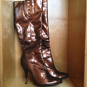 Icora Knee-High Tall Copper Boots ⚜️ Worn Once | 8